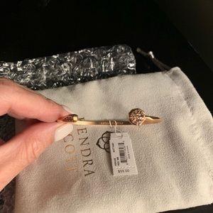 Kendra Scott Pinch Bracelet in Rose Gold Drusy NWT